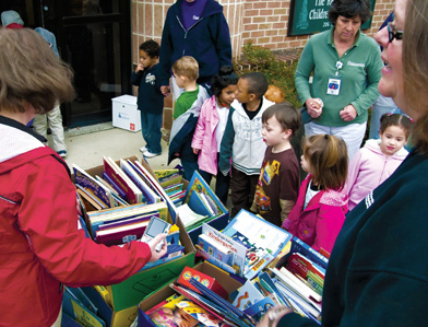 Reading Hospital book collection, toy and school supplies community events
